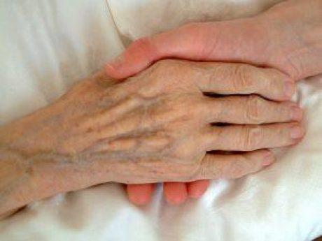 Hand hält Hand