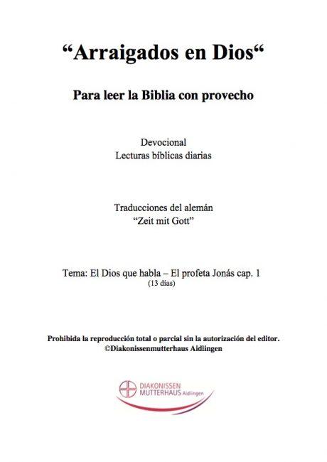 Zeit mit Gott: El Profeta Jonas Cover