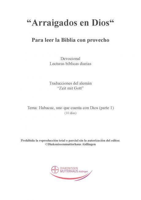 Zeit mit Gott Habacuc cover